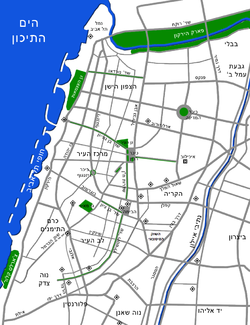 Tel Aviv map-hebrew.png