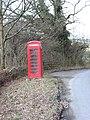 Telephone box on the road to Abbey Cwm Hir - geograph.org.uk - 1582101.jpg