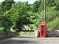 Telephone kiosk and Postbox in Berriedale - geograph.org.uk - 482697.jpg