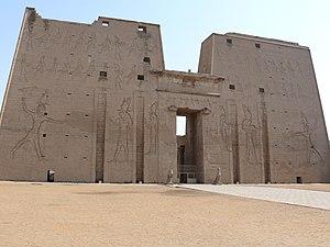 Nederlands: De tempel van Horus te Edfu, Egypt...