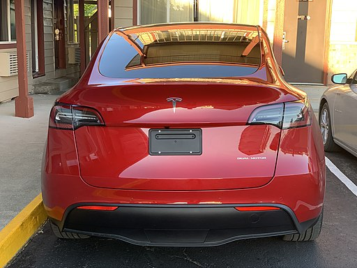 Tesla Model Y back view 7-19-2020