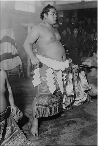 Ōnishiki Uichirō - Image: The 26th Yokozuna Ōnishiki Uichirō