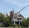 The Campbell-Hicks House in Huntington, West Virginia, notable for its narrow turret LCCN2015631825.tif