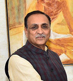 The Chief Minister of Gujarat Vijay Rupani on February 12, 2018.jpg