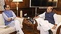 The Chief Minister of Madhya Pradesh, Shri Shivraj Singh Chouhan calling on the Union Home Minister, Shri Rajnath Singh, in New Delhi on February 13, 2018.jpg