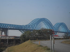 Bridges and tunnels across the Yangtze River - The Dashengguan Yangtze River Bridge in Nanjing