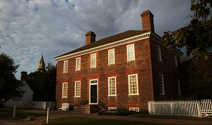 Wythe House - View of the Wythe House from Palace Street