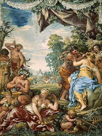 Golden Age - The Golden Age by Pietro da Cortona (Palazzo Pitti, Florence, Italy).