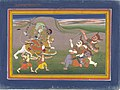 The Hindu Goddess Durga Slaying the Demon Nishumbha, Folio from a Devimahatmya (Glory of the Goddess) LACMA M.77.118.jpg