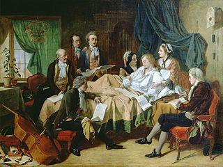 Смерть Вольфганга Амадея Моцарта Википедия  Последние часы жизни Моцарта художник Г Н О Нил 1860 е гг
