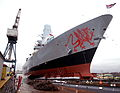 The Launch of Type 45 Destroyer HMS Dragon MOD 45149875.jpg