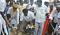 The Minister of State for Finance and Corporate Affairs, Shri Arjun Ram Meghwal participating in cleanliness drive, as part of the Swachh Bharat Mission near Mylapore MRTS railway station, in Chennai on June 16, 2017.jpg