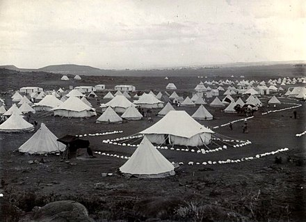 Tents in the Bloemfontein concentration camp The National Archives UK - CO 1069-215-94-Derivative01.jpg