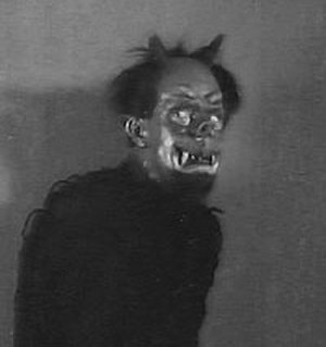 Ivan Mosjoukine - Mosjoukine as the demon in The Night Before Christmas (1913).