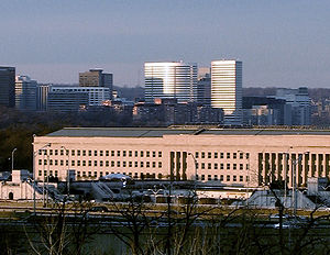 Arlington County, Virginia - Looking north toward The Pentagon with Rosslyn in the background