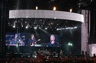 Estadio Monumental Antonio Vespucio Liberti - The Police in 2007, during their Reunion Tour.