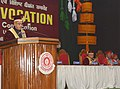 The President, Shri Pranab Mukherjee addressing on the occasion of the 14th Convocation of Manipur University, at Canchipur, in Imphal, Manipur on April 29, 2014.jpg