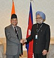 The Prime Minister, Dr. Manmohan Singh meeting the Prime Minister of Nepal, Mr. Baburam Bhattarai, on the sidelines of the UN Conference on Sustainable Development (Rio+20), at Rio de Janeiro, Brazil on June 21, 2012 (1).jpg