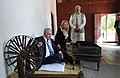 The Prime Minister, Shri Narendra Modi and the Prime Minister of Israel, Mr. Benjamin Netanyahu at Sabarmati Ashram, in Ahmedabad, Gujarat on January 17, 2018 (1).jpg