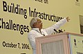 "The Railway Minister Shri Lalu Prasad delivering the keynote address at the Conference on ""Building Infrastructure Issues and Opportunities"", in New Delhi on October 07, 2006.jpg"