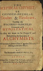 portada de the sceptical chymist de robert boyle 16271691