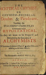 <i>The Sceptical Chymist</i> 1661 book by Robert Boyle