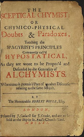 The Sceptical Chymist - Title page