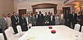 The Sudanese Petroleum Minister, Dr. Lual A Deng along with a delegation meeting the Union Minister for Petroleum and Natural Gas, Shri Murli Deora, in New Delhi on October 30, 2010.jpg