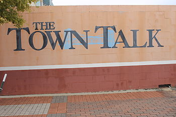 The Alexandria Town Talk offices are located downtown on Third Street. The Town Talk, Alexandria, LA IMG 4276.JPG
