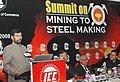 The Union Minister of Steel, Chemicals & Fertilizers, Shri Ram Vilas Paswan addressing at the inauguration of 'Summit on Mining to Steel Making' organized by Indian Chamber of Commerce, in New Delhi on March 05, 2008.jpg
