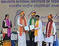 The Vice President, Shri M. Venkaiah Naidu presenting the degrees to students, during the 12th convocation of the Malaviya National Institute of Technology, in Jaipur on January 06, 2018.jpg