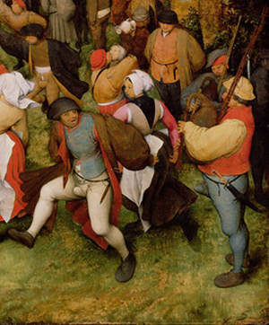 The Wedding Dance - Lower right-hand detail
