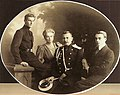 The Yusupov family. Prince Nicholas, Princess Zinaida, Count Felix Felixovich Sumarkov-Elston and Prince Felix.jpg