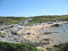 The beach at Porth Dafarch - geograph.org.uk - 895487.jpg