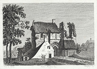 The bishop's castle at Landaff, Glamorganshire