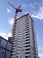 The crane and Stephenson Tower - Queens Drive (5335674927).jpg