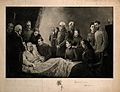 The death of the Emperor Bismark (?), with his family gather Wellcome V0006767.jpg