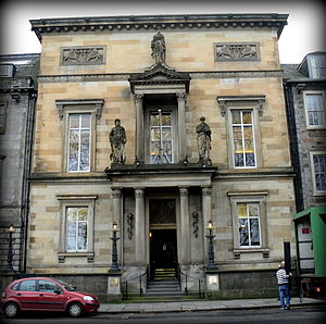 Royal College of Physicians of Edinburgh - The façade of the Royal College of Physicians of Edinburgh, 9 Queen Street, Edinburgh, Scotland