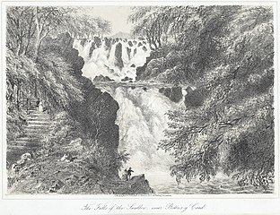 The falls of the Swallow, near Bettws y Coed