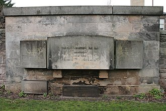 Thomas Chalmers - The grave of Rev Thomas Chalmers, Grange Cemetery