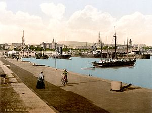 The harbour in Kingstown, Co. Dublin, Ireland, in about 1895 - Option 2