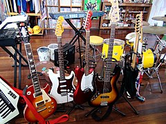 The instruments which fans donated to Toyosato Elementary School.JPG
