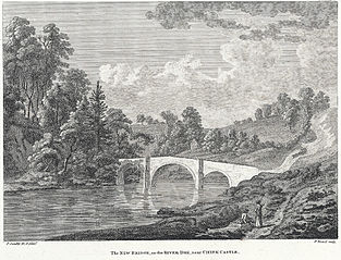 The new bridge, on the River Dee: near Chirk castle