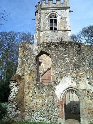 Ayot St Lawrence - The old Norman church, in March 2010