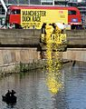 The start of The Manchester Duck Race 2014 at Spinningfields, Manchester in aid of children's charity Brainwave.jpg