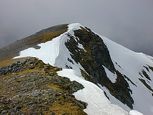 A' Chràlaig - Summit from south ridge