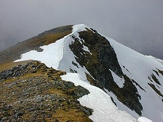 A' Chràlaig - Summit from south ridge