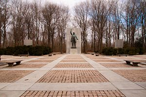 Eric Gugler - Plaza, Theodore Roosevelt Memorial (1967), Washington, D.C.