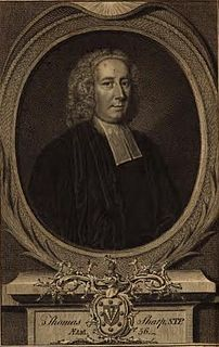 Thomas Sharp (priest) English churchman and writer, Archdeacon of Northumberland