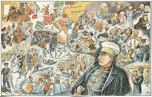 "Truth (British periodical) - Illustration of ""The Kaiser's Dream"", 1890, Christmas Edition"